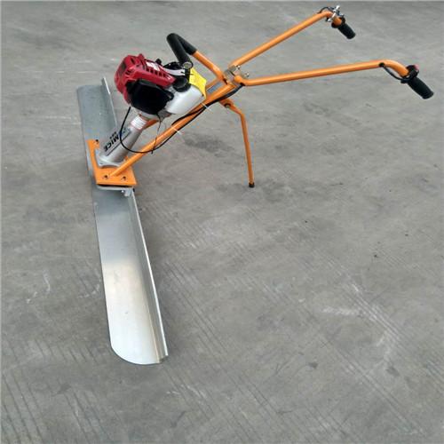 振捣尺手扶式汽油混凝土摊铺小型摊平机价格