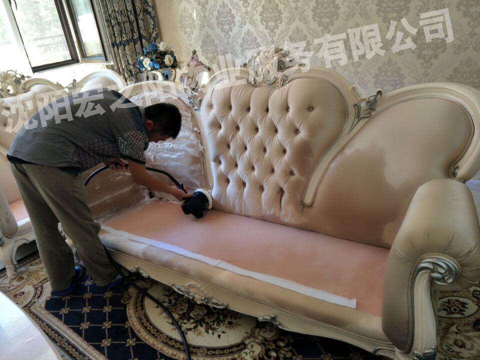 沈阳办公沙发清洗公司/沈阳沙发清洗电话/真皮沙发养护