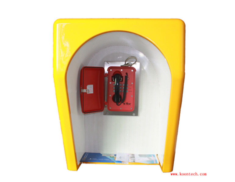 昆仑rf-13消音亭船舶专用抗噪声电?#24052;?#28023;上平台隔音电话罩