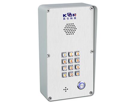 ip门禁电话机壁挂式户外门禁电话机带发光键盘的门禁电话机