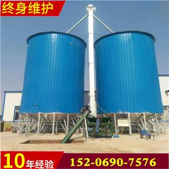 汇旺机械粮仓尺寸可定做玉米储罐料仓