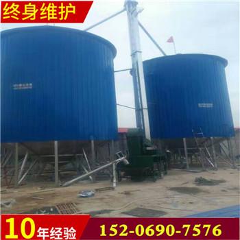 汇旺机械定制养鸡场用粮食钢板仓储粮罐