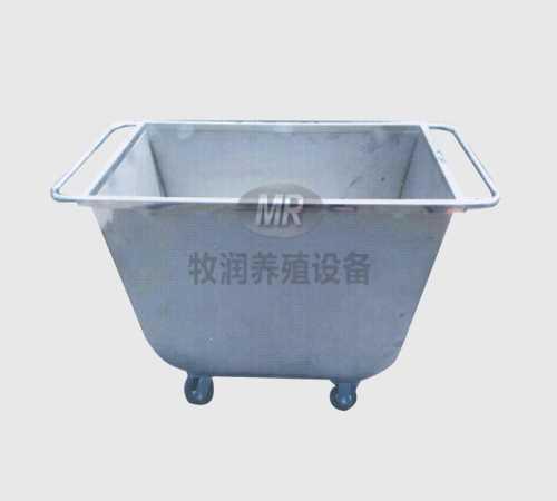 500斤不锈钢推料车-育肥食槽批发-卫辉市牧润养殖设备厂