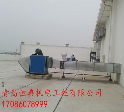 镀锌板地下车库消防排烟联系电话青岛城阳通风管道制作电话青岛恒典机电工程有限公司