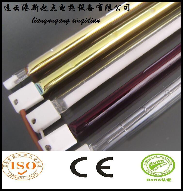 全镀金卤素电加热管镀金表面漂亮、寿命长
