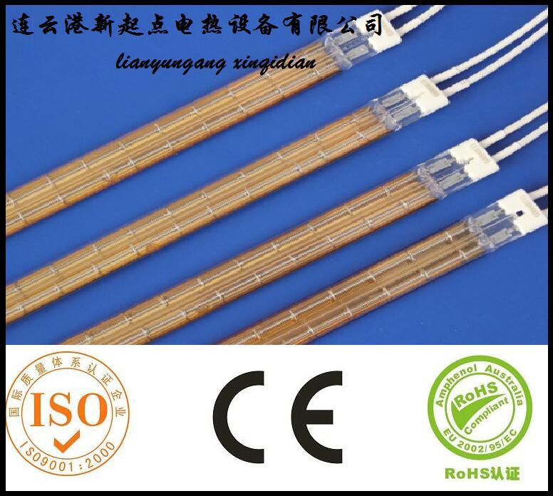 北京烤炉设备用双孔电炉丝石英加热管440mm