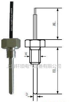 高精度铂热电阻三线制pt100温度探头4*30wzpt-035温度传感器