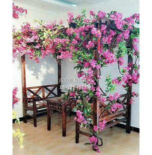 大型风景树保存时间长久室内装饰壁挂仿真紫藤花树