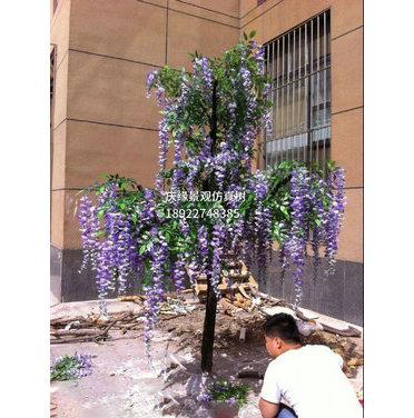 仿真紫藤花树装饰藤条婚庆室内装饰豆花塑料藤蔓