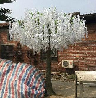 壁挂花室内装饰植物花藤仿真紫藤花树批发
