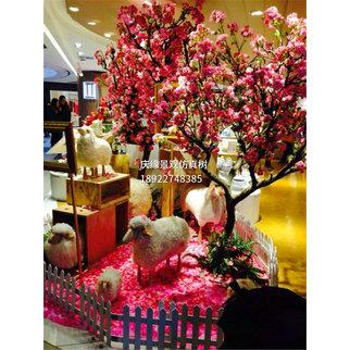 仿真樱花树花头梨花仿真樱花树图片仿真樱花树客厅酒店婚庆树拱门
