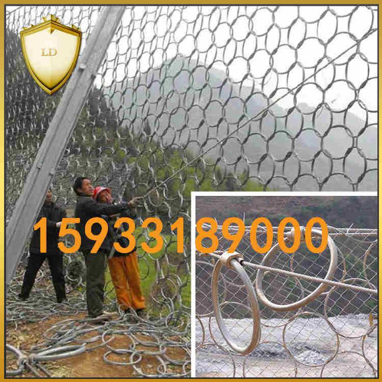 专业定制环形防护网铁路边坡防护网