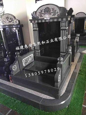 云南墓碑熙和凤山厂家批发黑色花岗岩组合墓碑
