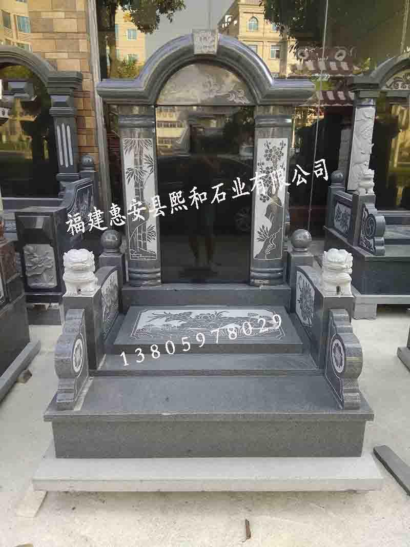 广西墓碑熙和凤山批发芝麻黑精品国内墓碑