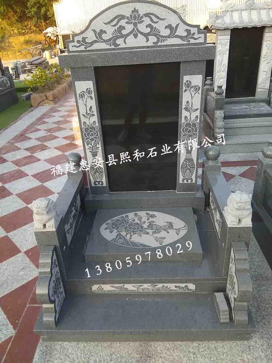 广西墓碑熙和凤山批发定制南宁国内墓碑黑色石材墓碑