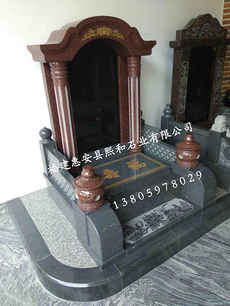 贵阳墓碑熙和凤山厂家批发印度红芝麻黑组合墓碑国内墓碑