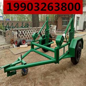 液压电缆放线拖车电力施工收放线车3吨电缆拖车