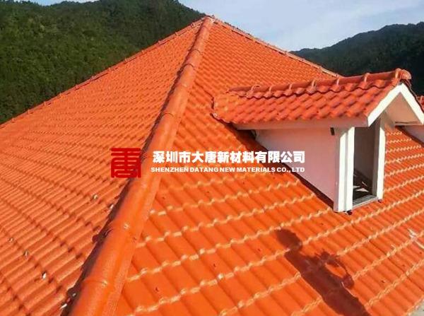 屋顶装饰塑料瓦新型楼顶树脂瓦隔热防水绝缘瓦