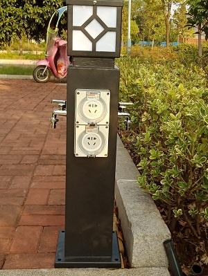 恋途hw-10房车水电桩岸电桩水电箱水电柜水电柱营地桩