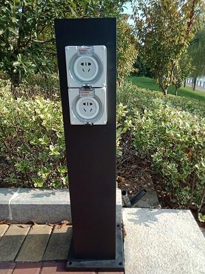 hw-203?#20302;?#30005;源柱户外防水插座柱立式插座柱草坪灯珠插座柱