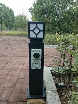 hw-205?#20302;?#25554;座胡草坪灯珠电源柱立式插座柱户外防水插座柱