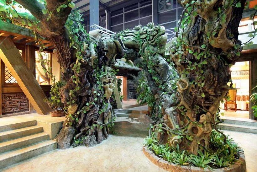 匠志景观塑石假山假树仿真树景观雕塑
