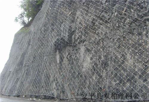厂家直销稳固山体主动防护网钢绳网