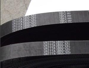日本unitta橡胶同步带204-2gt-4mm