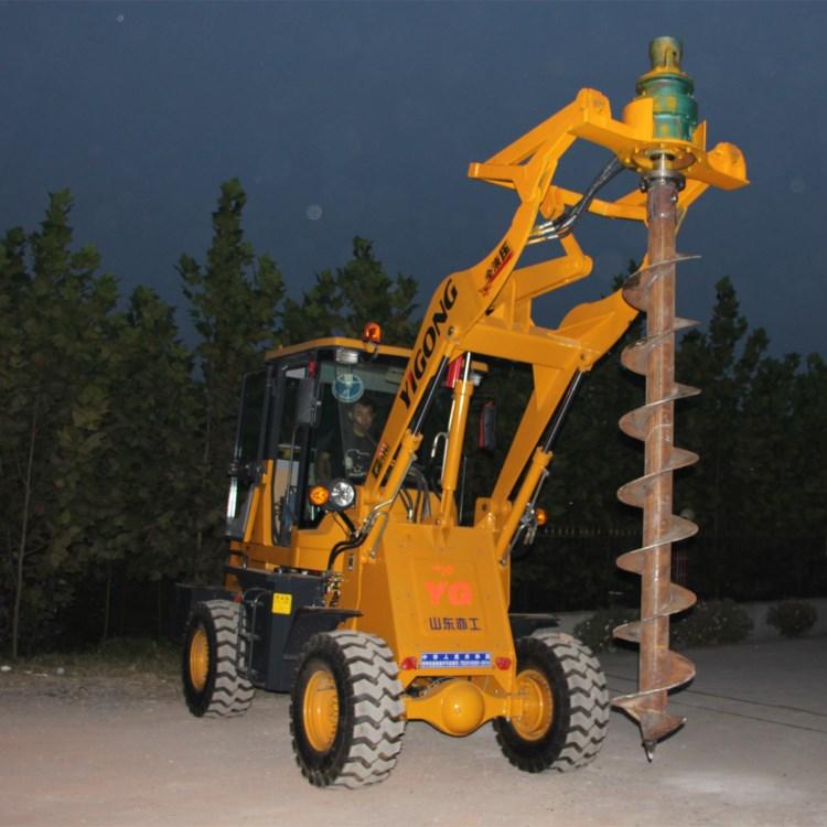 道路用装载式电线杆打桩机技术参数齐全