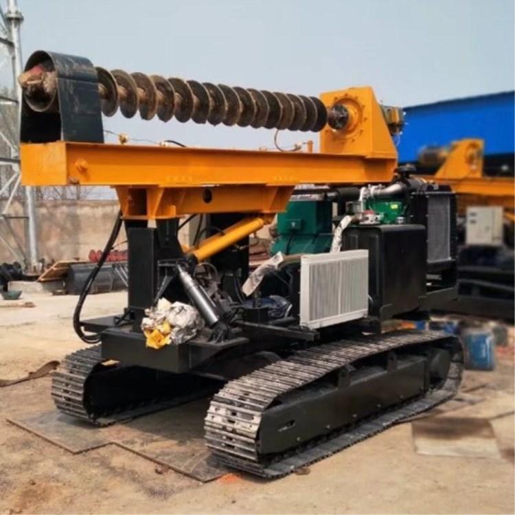 履带式打桩机供应商公路护栏打桩机使用功率