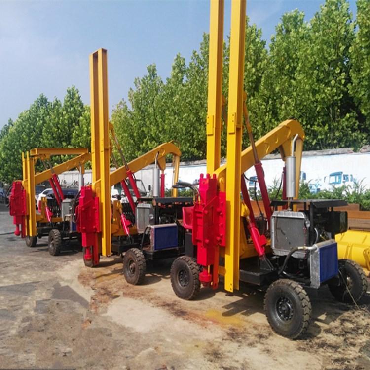 护栏打桩机的打桩效率液压波形公路护栏打桩机型号配置