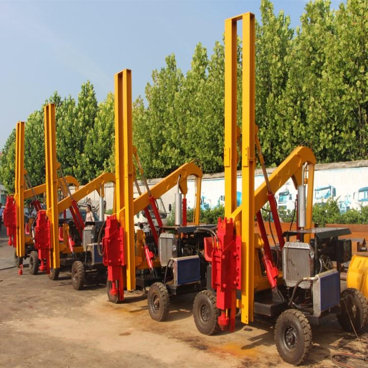 专业生产公路护栏打桩机小型护栏打桩机工作原理