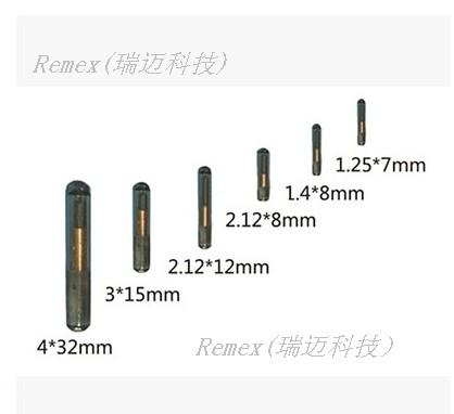 植入式玻璃管标签rfid电子标签动物管理芯片1342khzem4305