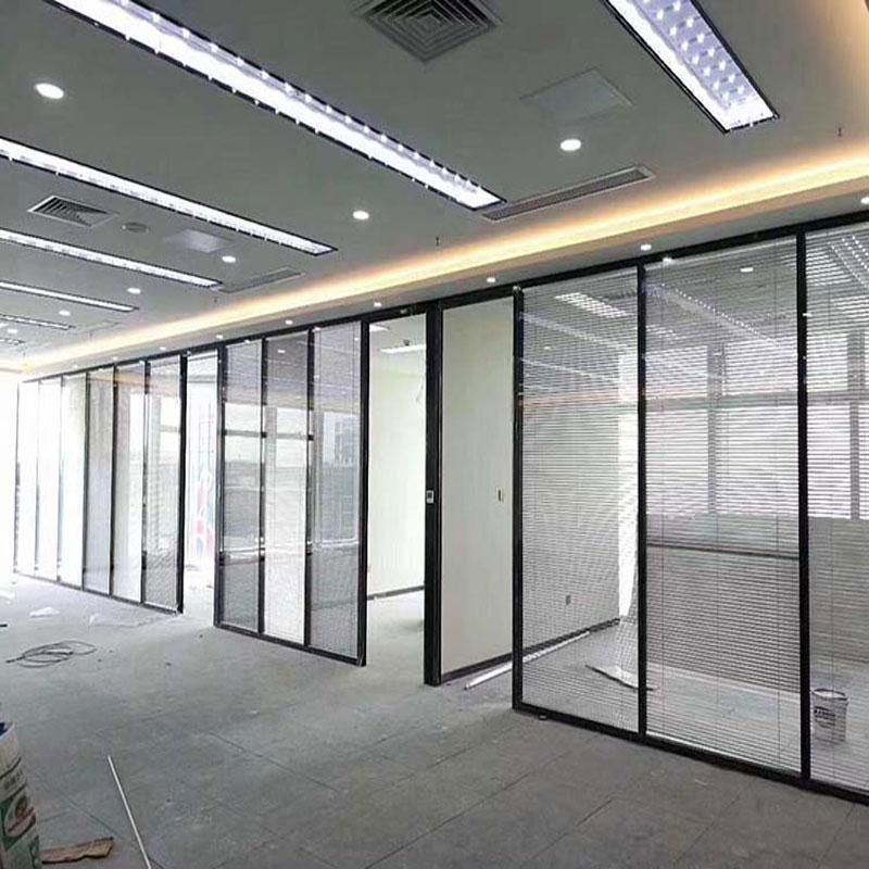 广东珠海玻璃隔断墙安装铝合金隔断型材生产批发