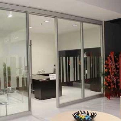 无锡钢化玻璃隔断单层双层钢化玻璃墙隔断隔墙
