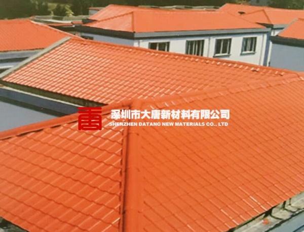 深圳宝安订做尺寸屋面树脂瓦asa材质