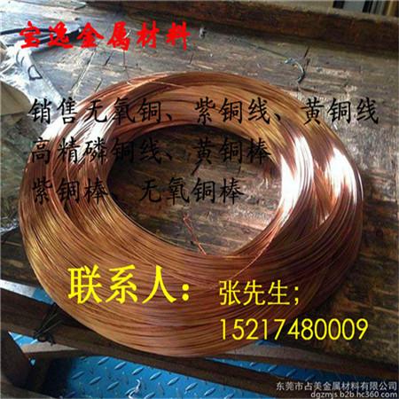 宝逸进口t1紫铜线宝逸c1100红铜线金属c10200无氧铜杆