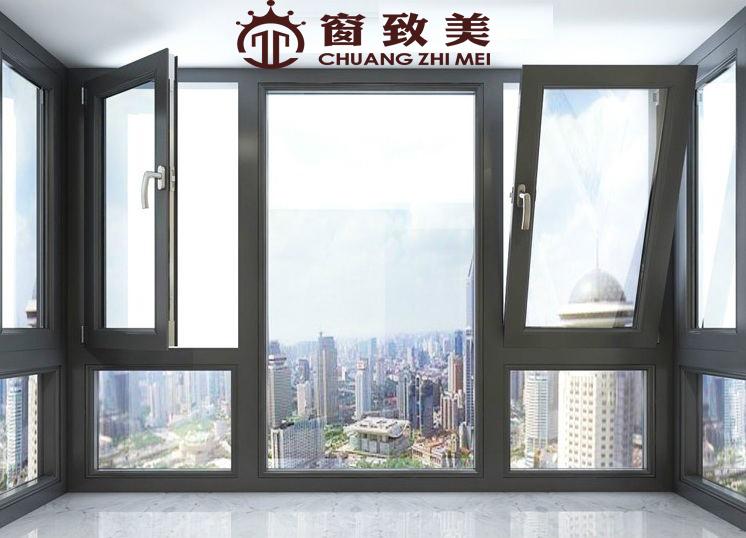断桥铝门窗封阳台平开隔音窗落地窗铝合金窗户夹胶玻璃