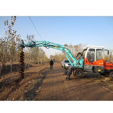 厂家直下大马力轮式挖掘机钻孔机品质保障质优价廉