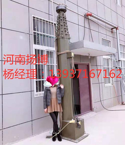 扬博订制3-30米自动升降避雷针装甲战斗车载升降杆避雷针安装方法
