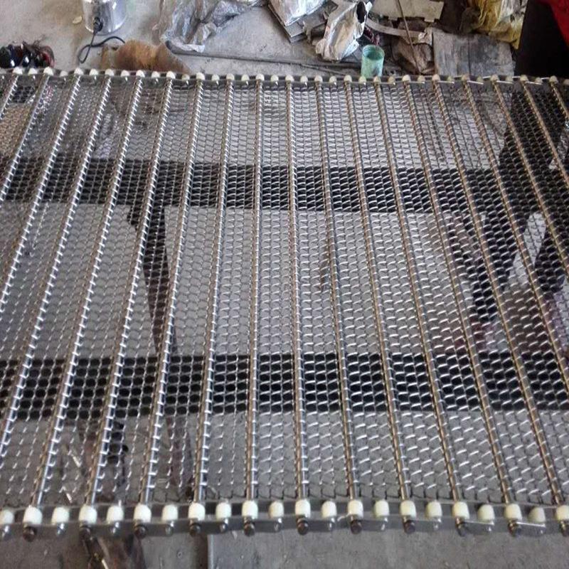 不锈钢链条式传动网带生产厂家、不锈钢弯板链条