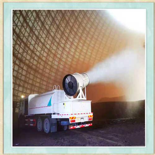淮南市混凝土制品厂车载雾炮机作用