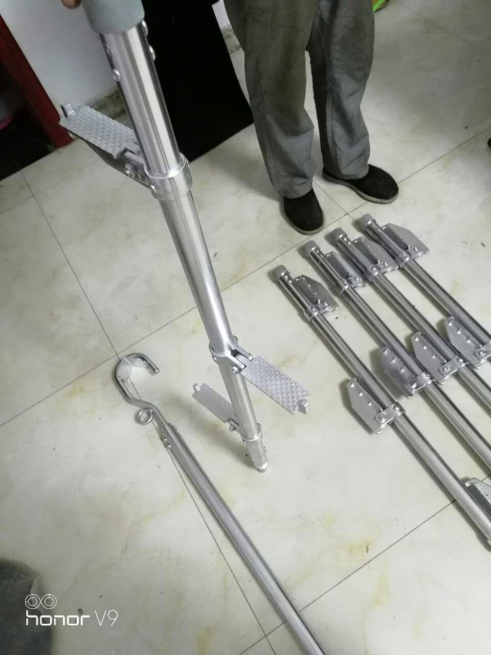 铝合金蜈蚣梯facl6-6铝合金独角梯可拆卸可折叠柱式梯