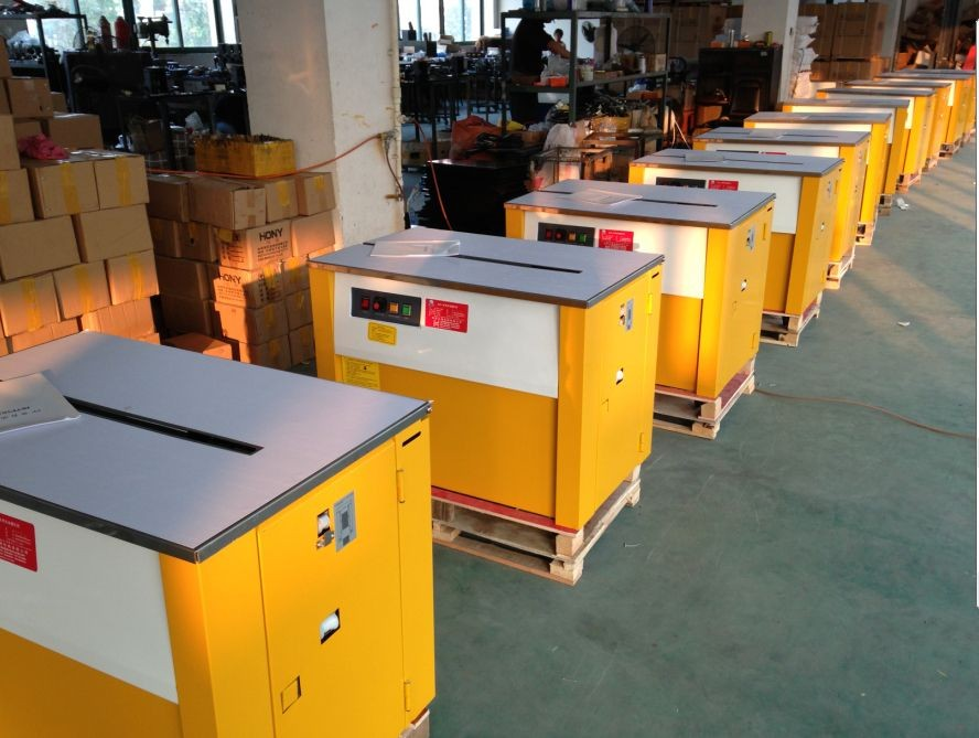 江西打包机南昌半自动捆包机pp带纸箱打包机高台低台自动打包机