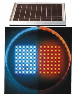交通警示灯单面爆闪灯太阳能红蓝爆闪灯价格