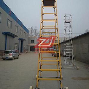 厂家直销接触网检修半绝缘梯车圆管轻型防滑绝缘梯车