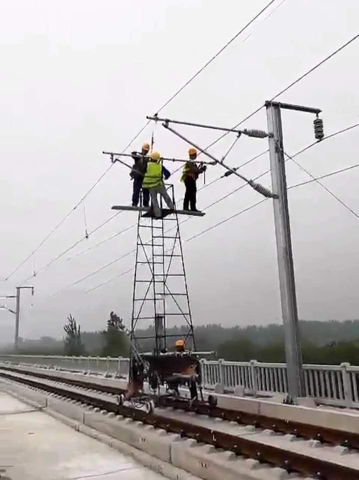 电气化铁路检修钢制梯车、接触网检修梯车、钢管绝缘梯车