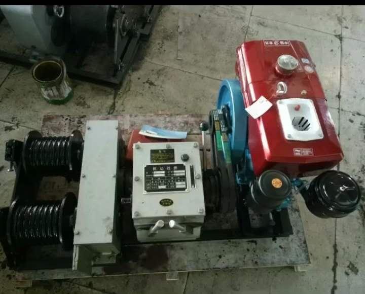 动力足绞磨机、柴油汽油电动机动绞磨机、多功能小型电缆牵引机