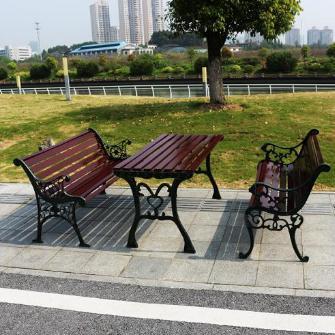 蘭州公園墻椅和甘肅鐵藝背景墻