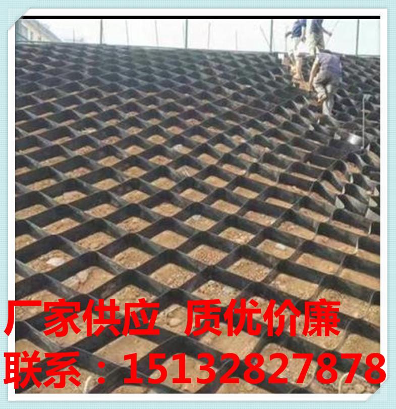 土工格室護坡土工格室土工格柵塑料格柵廠家批發